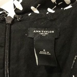 Ann Taylor Dresses - Ann Taylor Cotton Black&White Dress size 0